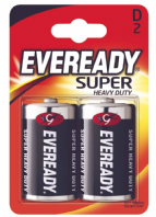 Eveready Super Heavy Duty Batteries - D Pack 2